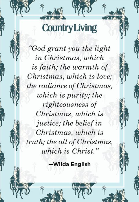 religious christmas quote from wilda english
