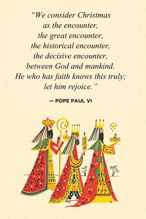 Pope Paul VI Religious Christmas Quotes