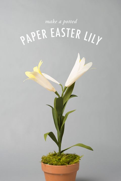 religious easter crafts paper easter lily