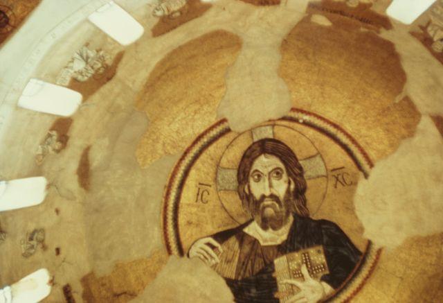 daphni monastery mural