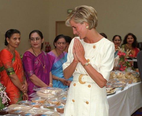 london, united kingdom june 06 diana, princess of wales visiting the shri swaminarayan mandir in neasden, london nw10 photo by tim graham photo library via getty images