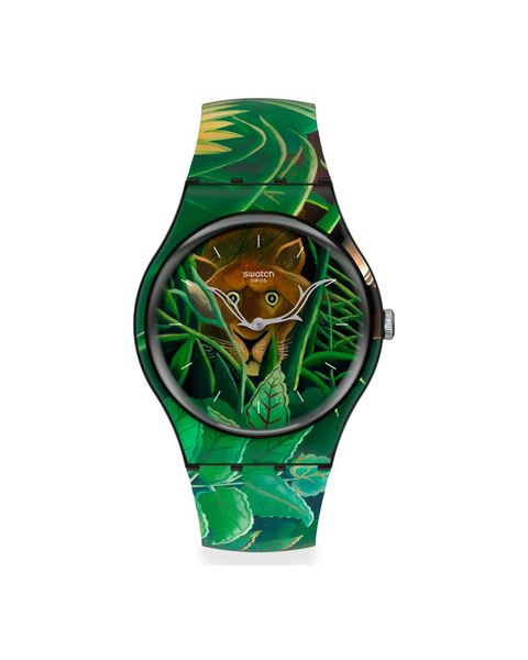 reloj hombre swatch the dream by henri rousseau