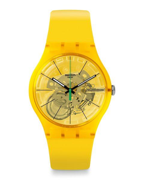 reloj modelo bio lemon de swatch 75 euros
