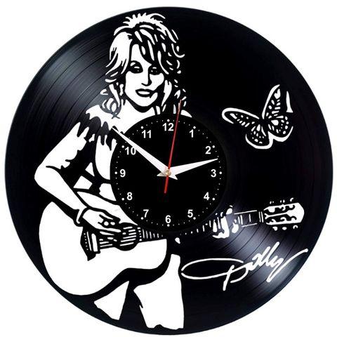 Reloj de pared con forma de vinilo de Dolly Parton