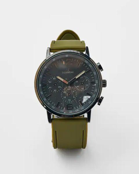 reloj pull and bear correa verde