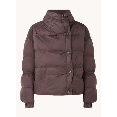 gewatteerde jas bruin met knopen van remain