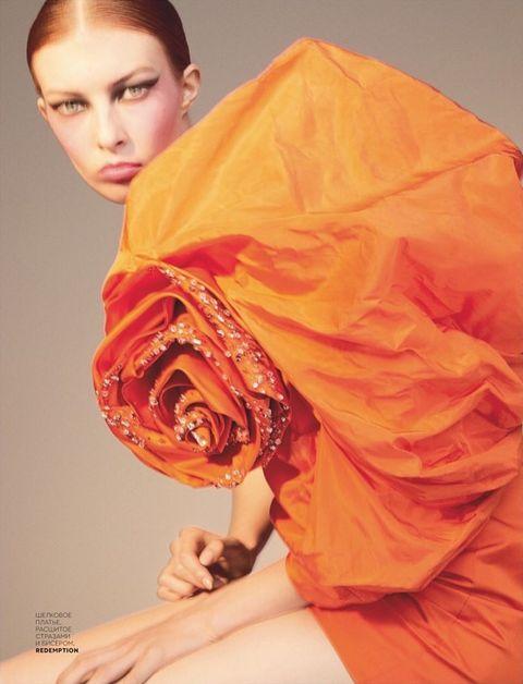 Orange, Beauty, Yellow, Peach, Stole, Silk, Shawl, Photo shoot, Textile, Fashion model,