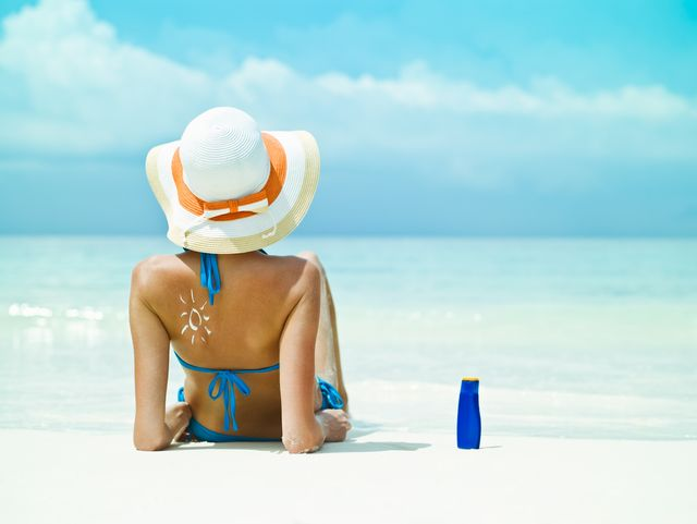 remove sunscreen stain