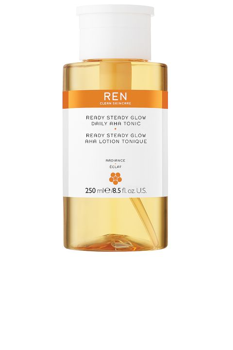 ren clean skincare ready steady glow daily aha tonic on white background