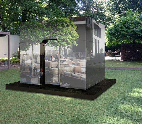 Sculpture, Architecture, House, Pavilion, Building, Grass, Tree, Art,