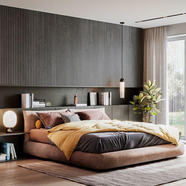 3d rendering of an elegant bedroom