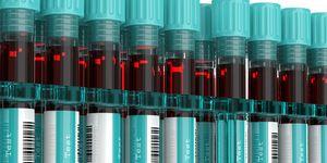3D rendering of blood test tubes