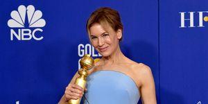 Renée Zellweger met haar Golden Globe in 2020