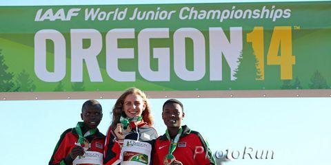 Women's 3K medalists at 2014 World Junior Championships