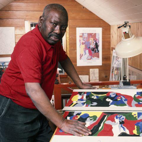 Artist Jacob Lawrence Portrait Session