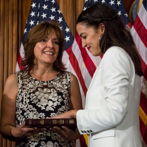 Newly Elected House Speaker Nancy Pelosi Holds Ceremonial Swearing-In With New Members Of Congress