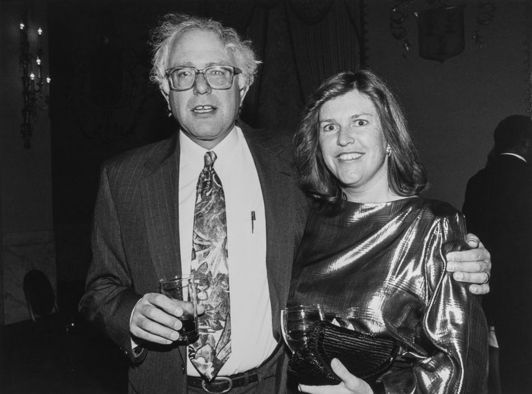 Bernie Sanders and Jane O'Meara Sanders in 1992.