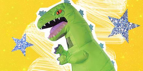 Green, Illustration, Cartoon, Tyrannosaurus, Dinosaur, Dragon, Fictional character, Graphic design, Art,