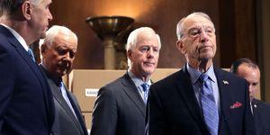 GOP Senate Judiciary Committee Members Hold News Conference On Brett Kavanaugh