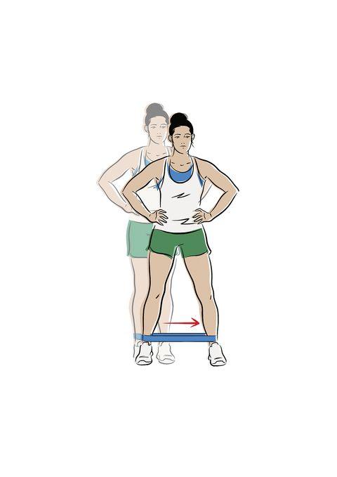ejercicios glúteo con banda de resistencia