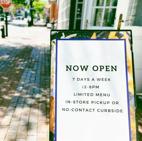 restaurant open signage in age of covid 19