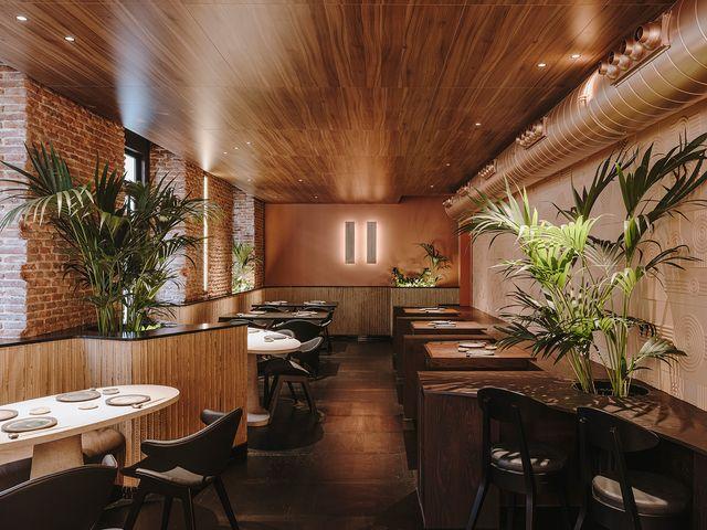 restaurante nomo en madrid diseñado por la interiorista cristina cirera