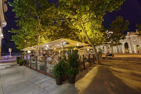 imagen de uno de los mejores restaurantes con terraza cubierta en madrid