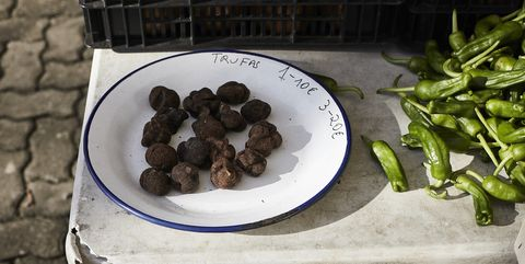 truffels en padron pepers in san sebastian