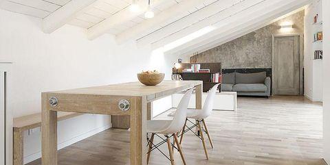 Wood, Floor, Room, Interior design, Flooring, Hardwood, Table, Ceiling, Wall, Furniture,