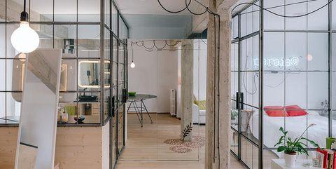 Interior design, Floor, Room, Architecture, Flooring, Ceiling, Glass, Wall, Real estate, Interior design,