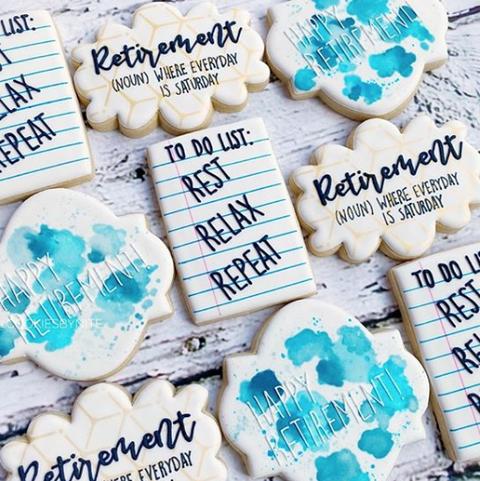 retirement party cookies