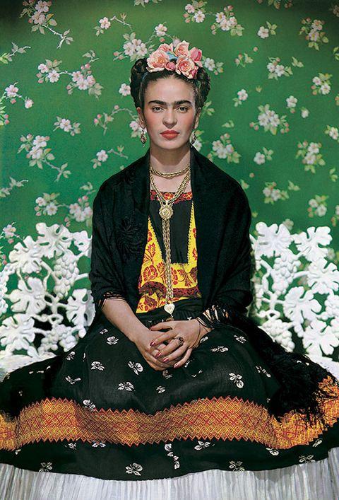 Frida Kahlo en el banco exposición V&A museum Londres