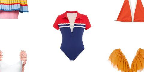 Clothing, Red, Orange, Uniform, Sleeve, Costume, Sports uniform, Jersey, Cheerleading uniform, Sportswear,