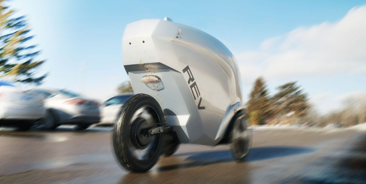 Watch Us Get Lunch Delivered by a Three-Wheeled Autonomous Robot Car