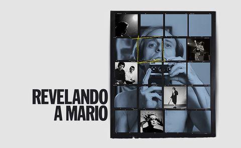 Mario Pacheco sostiene una cámara de fotos en la portada de su documental