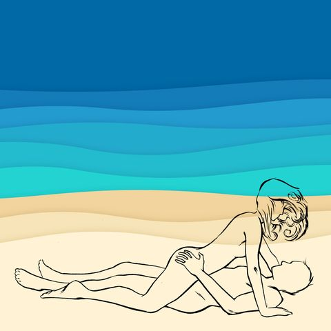 Sun tanning, Cartoon, Illustration, Summer, Leisure, Leg, Physical fitness, Elbow, Vacation, Drawing,