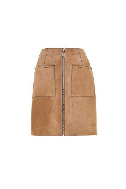 Reversible clothing sustainable fashion -Marks & Spencer eversible leather and suede mini skirt