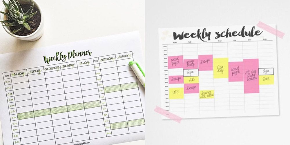 12 revision timetable templates that are pretty and practical