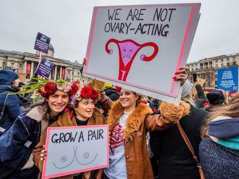Women's March, London, UK - 19 Jan 2019