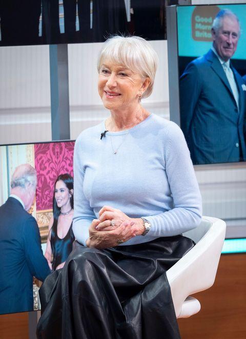 Helen Mirren 'Good Morning Britain' TV show, London, UK - 31 Jan 2019