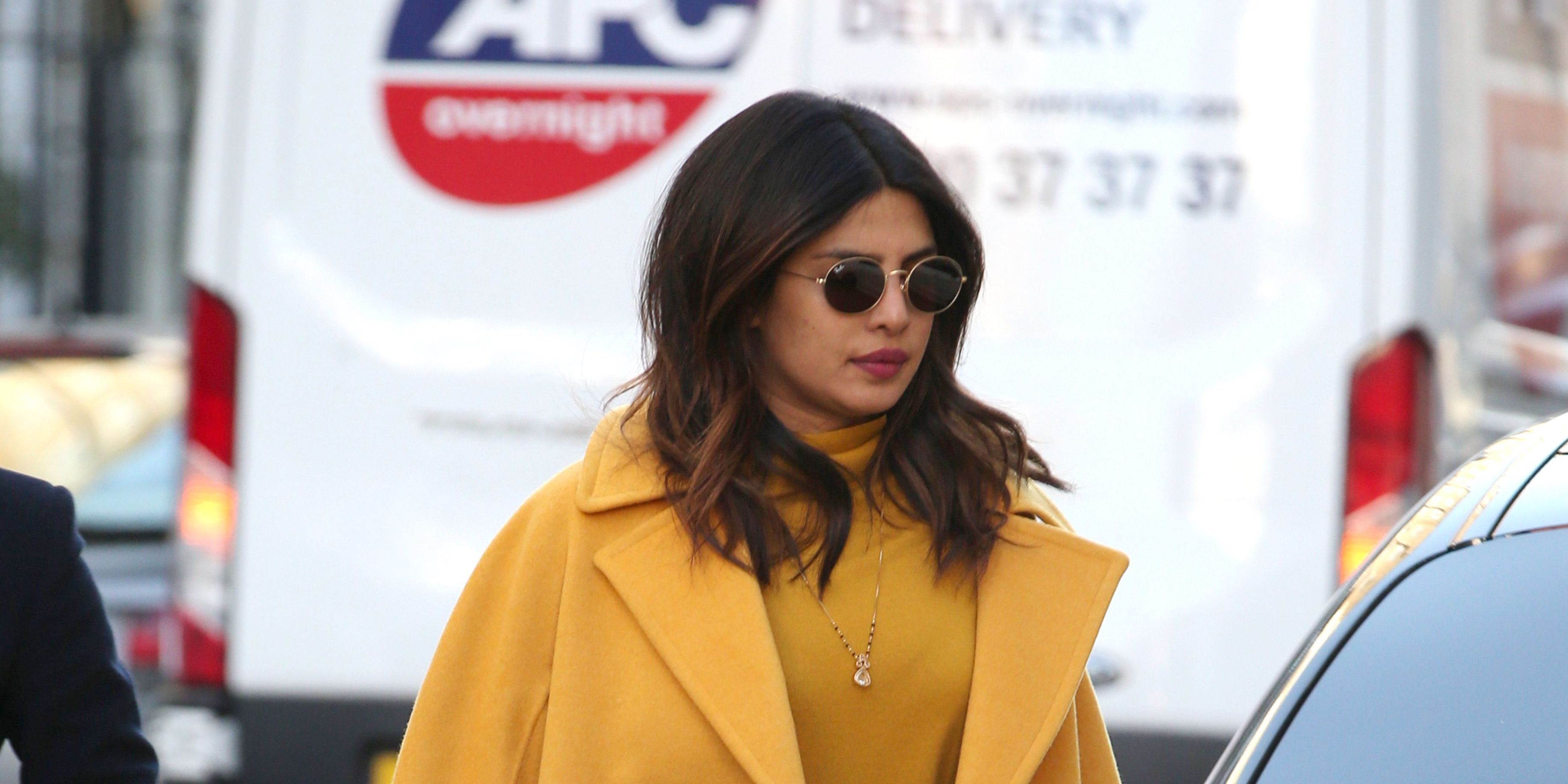 Priyanka Chopra out and about, London, UK - 15 Feb 2019