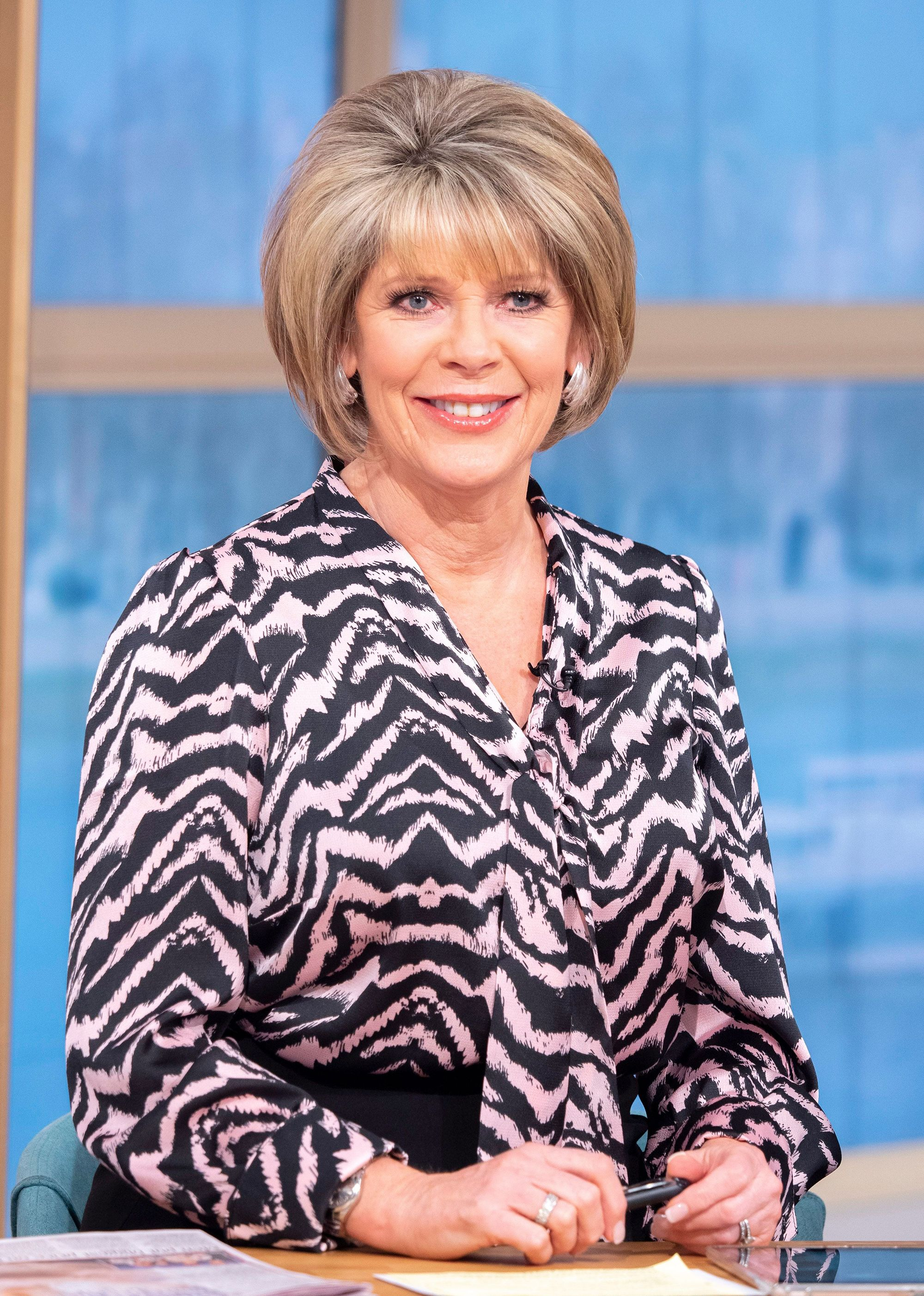 423a24fb21cf8 Fans are loving Ruth Langsford's £35 River Island satin blouse