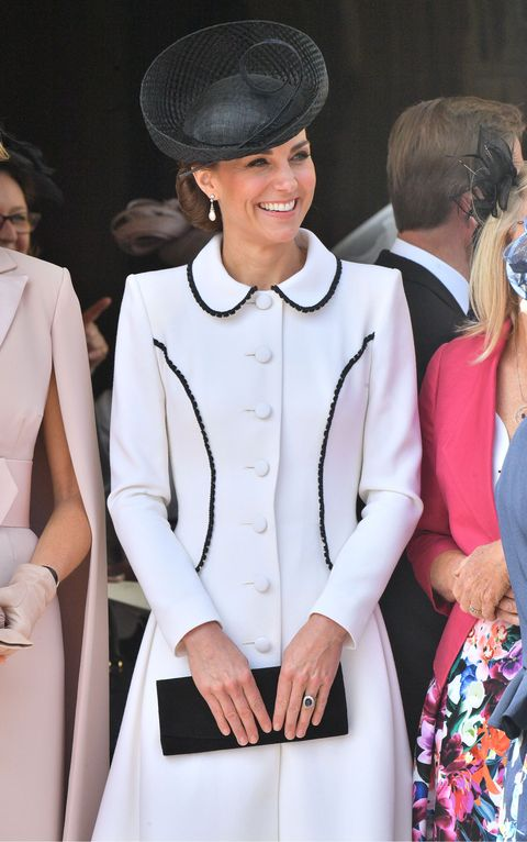 921ac8e65432 Kate Middleton Wears Catherine Walker Coat Dress For Garter Day Royal Event