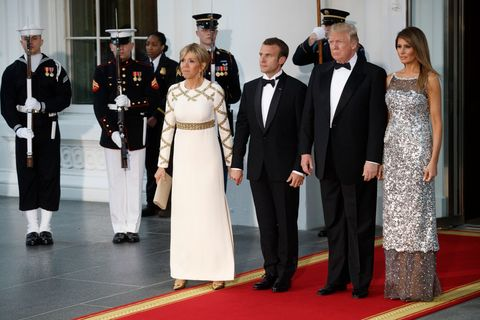 Melania Trump S Chanel Dress Totally Blinded Us In The Best Way