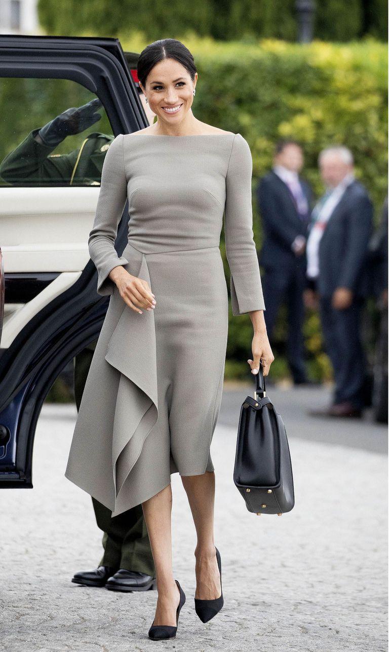 Meghan Markle Swaps Stunning Roland Mouret Dress For A