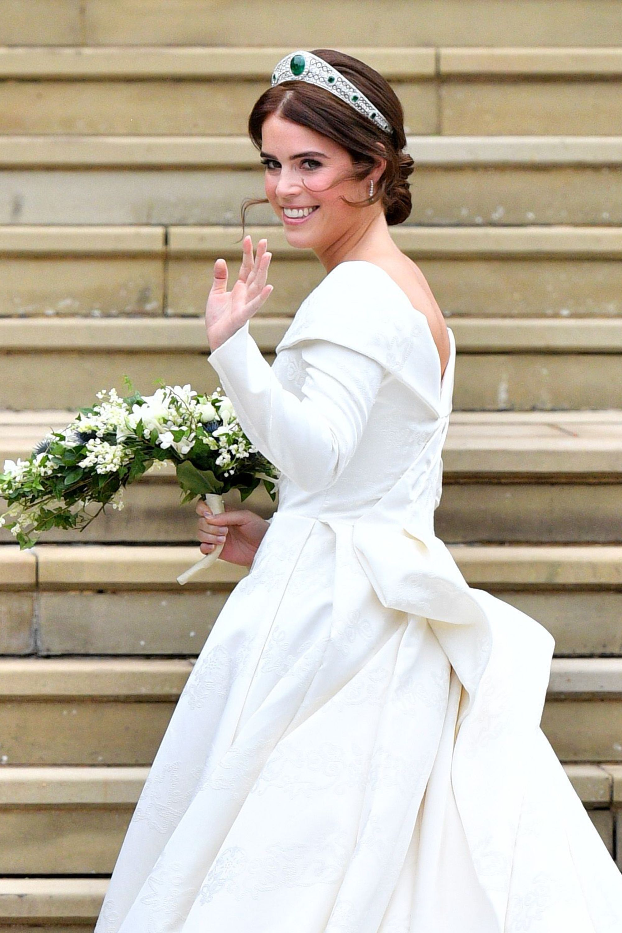 2ded80645ea Princess Eugenie s Peter Pilotto wedding dress – See pictures of Princess  Eugenie s wedding gown