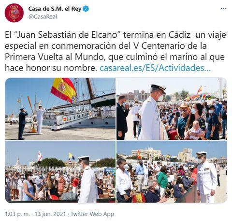 el rey felipe vi en la conmemoración del v centenario de la primera vuelta al mundo