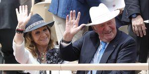 Rey Juan Carlos I y la infanta Elena