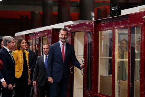 Rey Felipe en Metro de Madrid