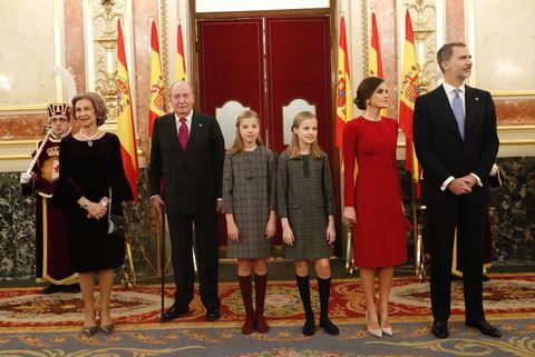 40 aniversario Constitución, Reyes, infanta Sofía, princesa Leonor, reina Letizia, reina Sofía, rey Felipe, rey Juan Carlos